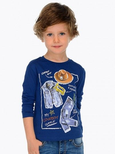 Camisola manga comprida Cowboy menino Mayoral