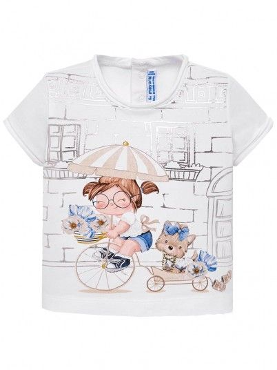 T-Shirt Baby Girl White Mayoral N191010