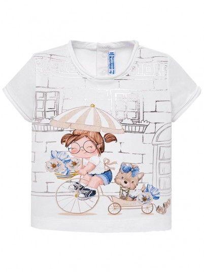 Camisola manga curta bebé menina Mayoral