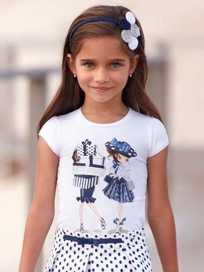 T-shirt manga curta bonecas menina Mayoral