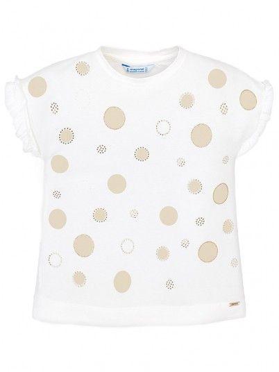 T-shirt manga curta bolinhas menina Mayoral