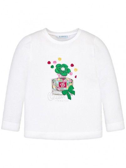 Camisola manga comprida desenho menina Mayoral
