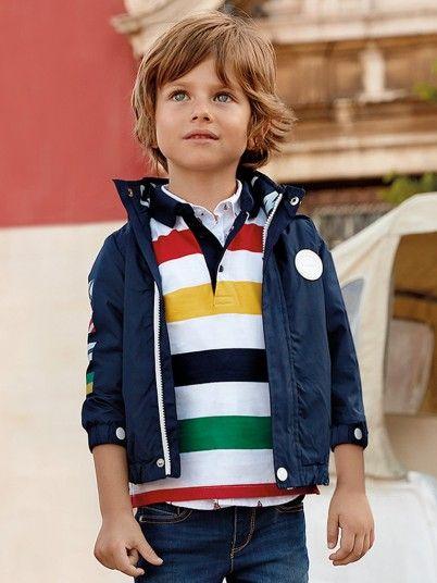 Casaco corta-ventos bandeiras menino Mayoral