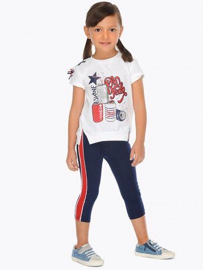 Conjunto camisola e leggings faixas laterais menina Mayoral
