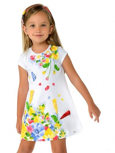 Dress Girl White Mayoral N193948