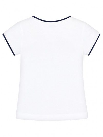 T-Shirt Girl White Mayoral