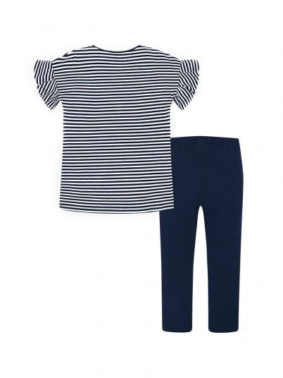 Conjunto leggings e camisola riscas menina Mayoral