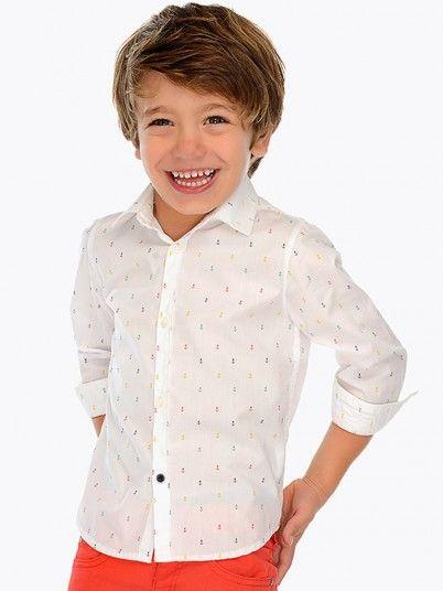 Camisa manga comprida estampada menino Mayoral