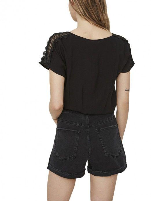 Top Mujer Negro Vero moda 10194916