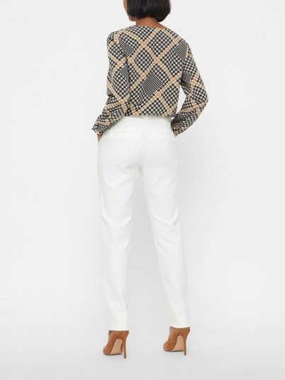 Trousers Women White Vero moda 10201932