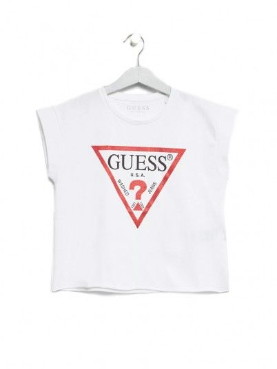 T-Shirt Girl Guess White Guess Kids