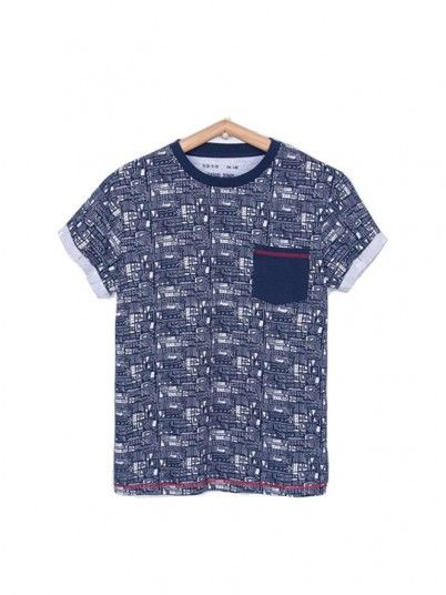 T-Shirt Boy Navy Blue Tiffosi Kids 10026375