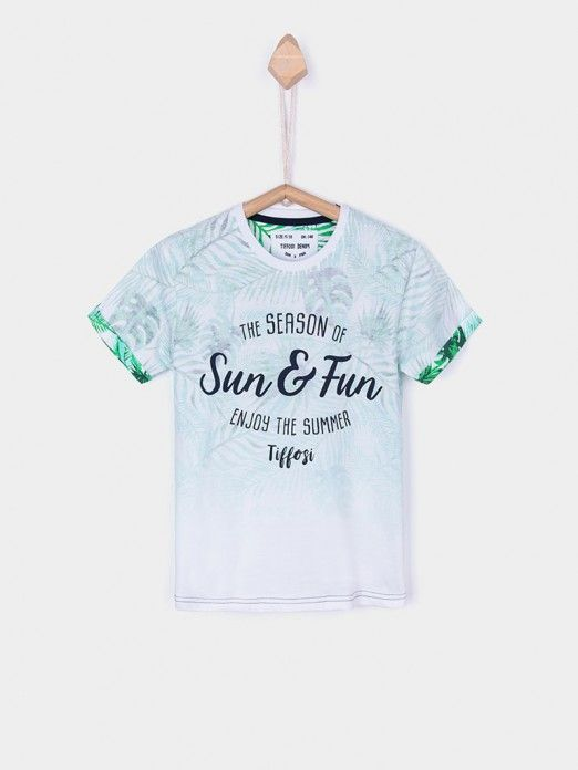 T-Shirt Boy White Tiffosi Kids 10026376