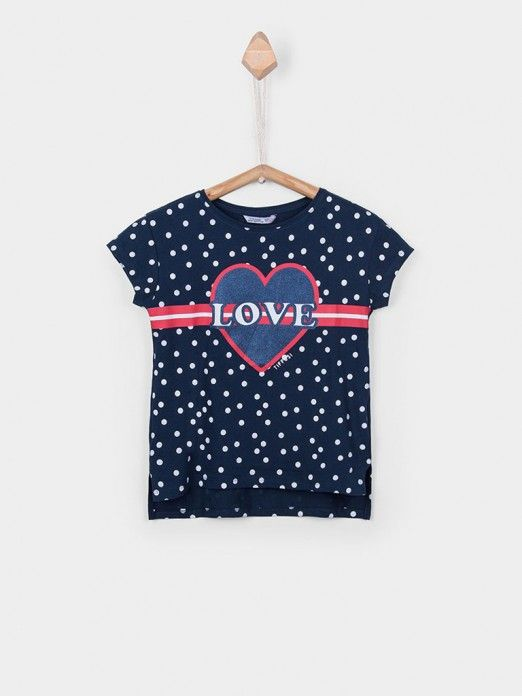 T-Shirt Girl Navy Blue Tiffosi Kids