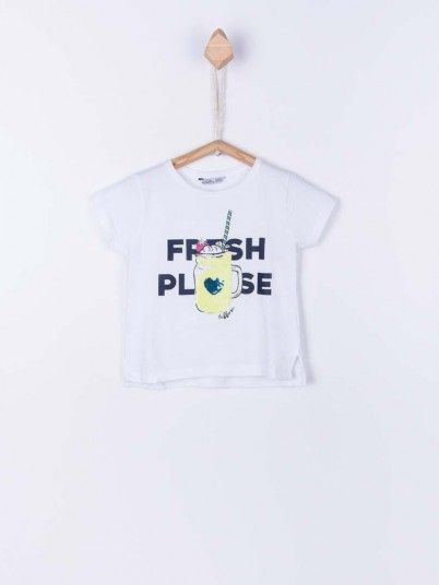 T-Shirt Girl White Tiffosi Kids 10026777