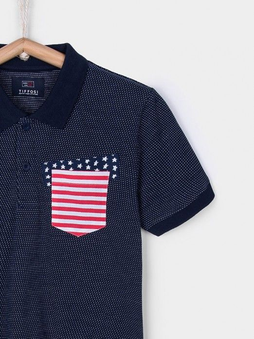 Polo Shirt Boy Navy Blue Tiffosi Kids