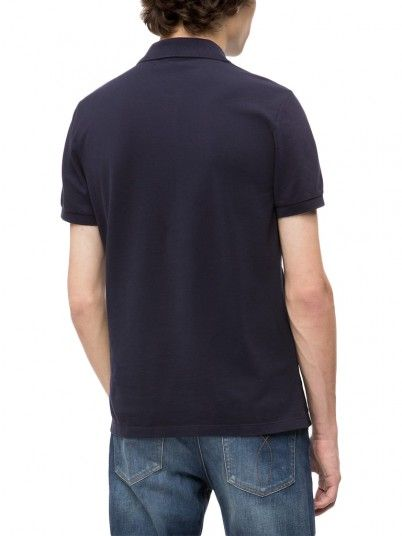 Polo Shirt Man Navy Blue Calvin Klein