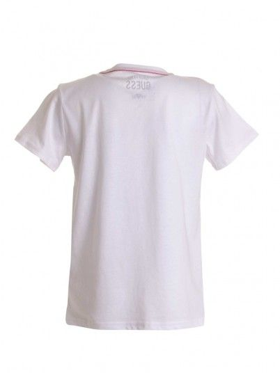 T-Shirt Girl White Guess L73I55K5M20