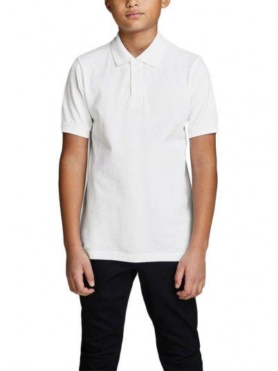 Polo Shirt Boy White Jack & Jones