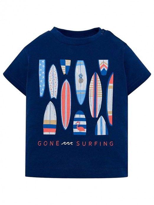 Camisola manga curta surf bebé menino Mayoral