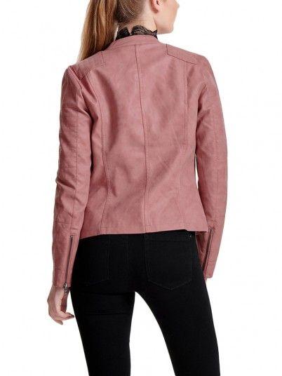 Chaquetas de Cuero Mujer Rosa Only 15102997