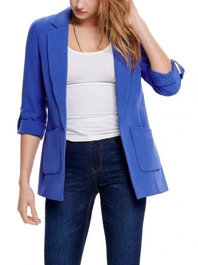 Blazer Mujer Azul Only 15169256