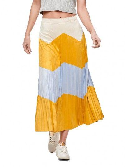 Falda Mujer Mostaza Only 15175079