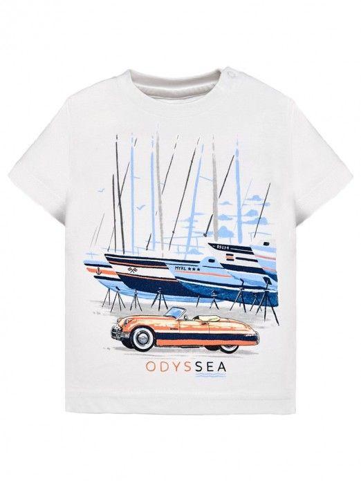 a8ac7ee8c T-Shirt Baby Boy White Mayoral N191020 | Mellmak