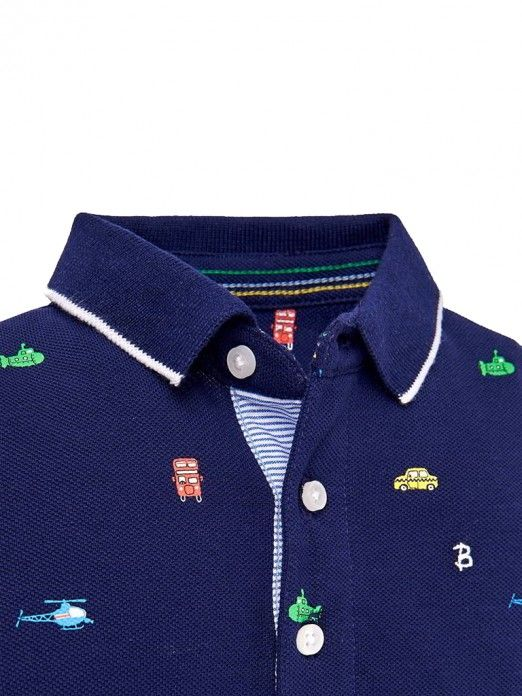 Polo Shirt Baby Boy Navy Blue Mayoral 1118