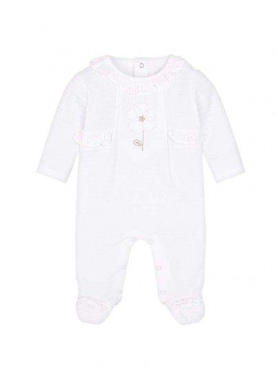 Pijama comprido flor bebé recém nascida Mayoral