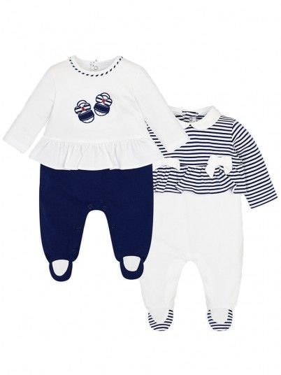 Set pijamas compridas folho bebé recém nascida Mayoral