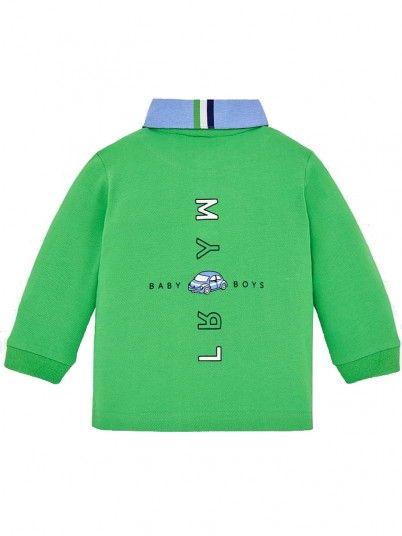 Polo manga comprida logotipo bebé menino Mayoral
