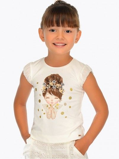 Camisola manga curta boneca menina Mayoral