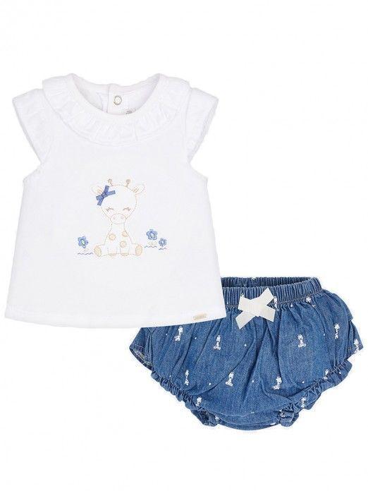 Conjunto blusa e cuequinha bebé recém nascida Mayoral
