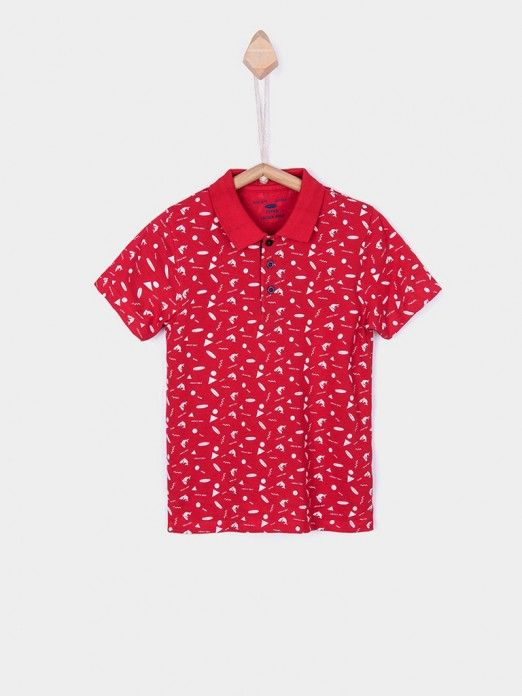 Polo Shirt Boy Red Tiffosi Kids