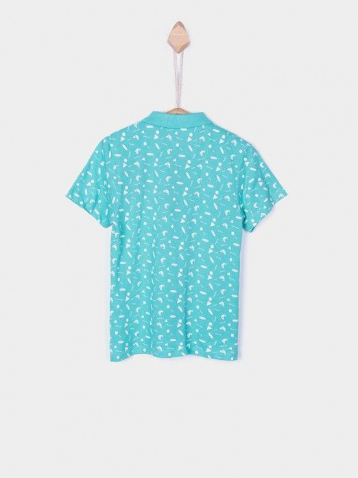 Polo Shirt Boy Green Water Tiffosi Kids