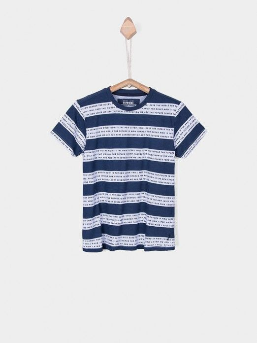 T-Shirt Boy Navy Blue Tiffosi Kids 10026504
