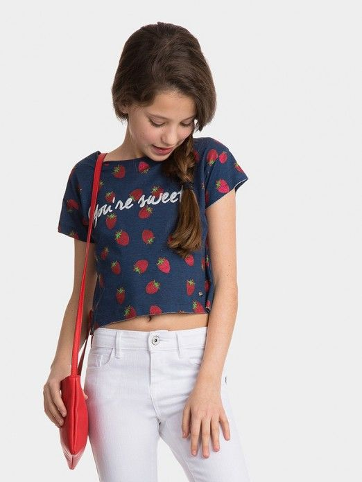 T-Shirt Girl Blue Tiffosi Kids