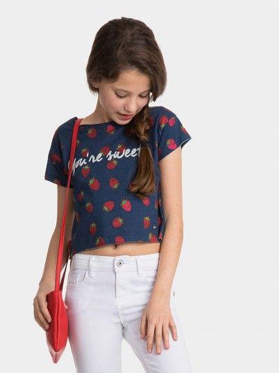 T-Shirt Girl Blue Tiffosi Kids 10026767