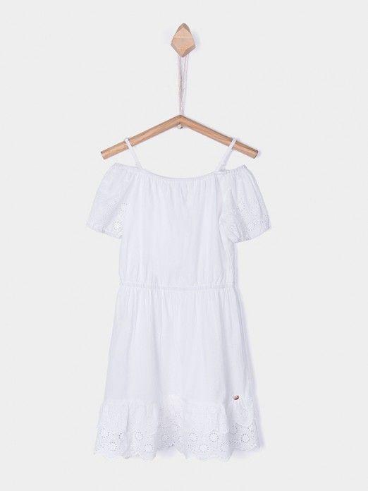 Dress Girl White Tiffosi Kids