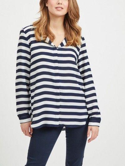 Camisas Mujer Azul Risca Vila 14049450