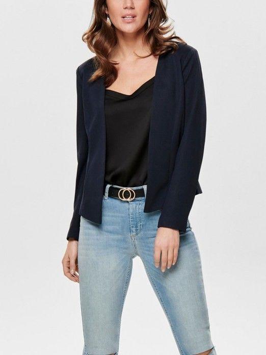 real mejor valorado revisa comprar lo mejor Blazer Mujer Azul Marino Only 15175126