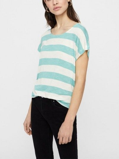 T-Shirt Woman Green Water Vero Moda