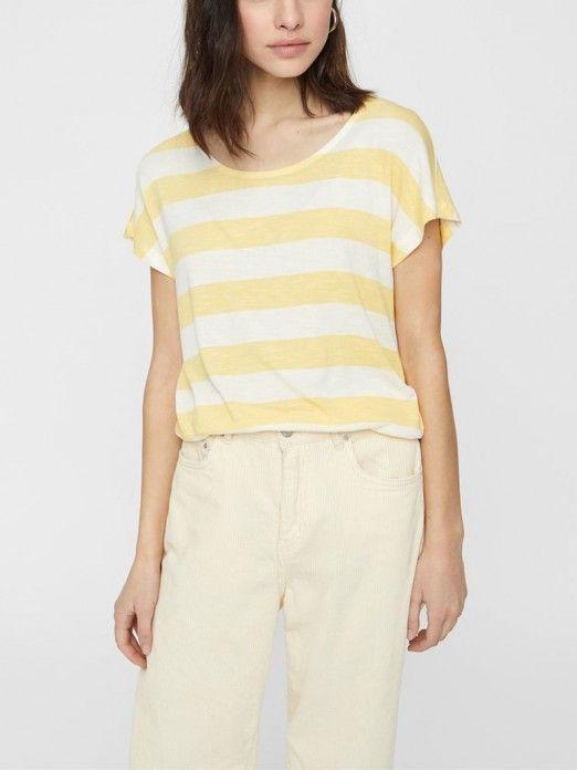 T-Shirt Mujer Amarillo Vero moda 10190017