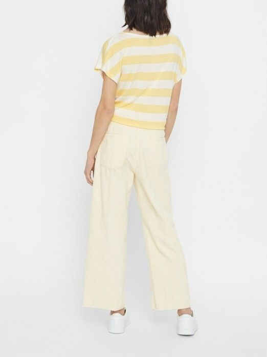 T-Shirt Woman Yellow Vero Moda
