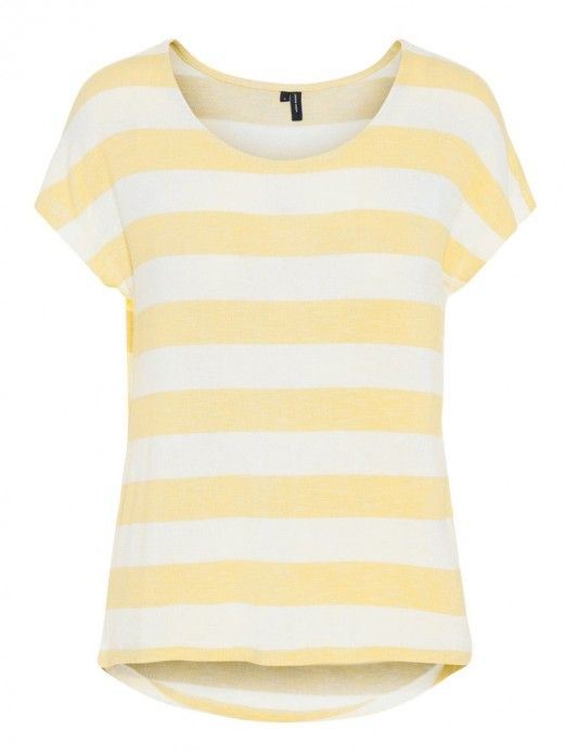T-Shirt Women Yellow Vero moda 10190017