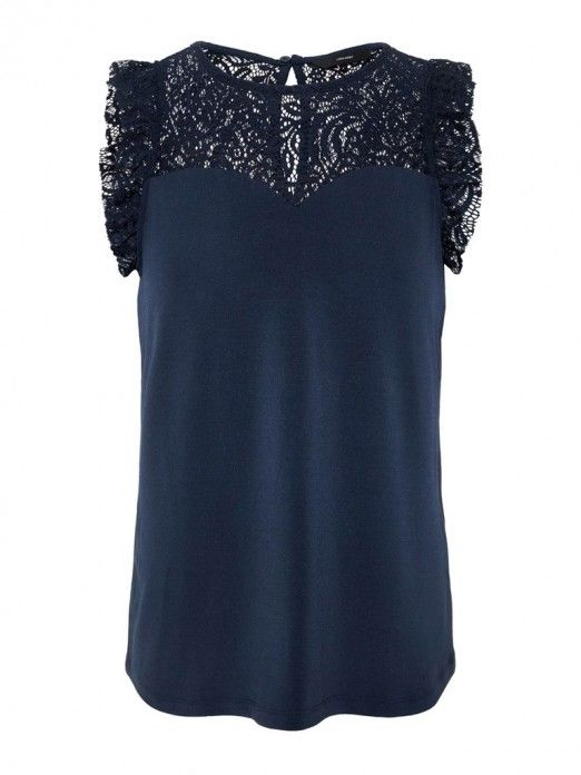 Top Mujer Azul Marino Vero moda 10196238