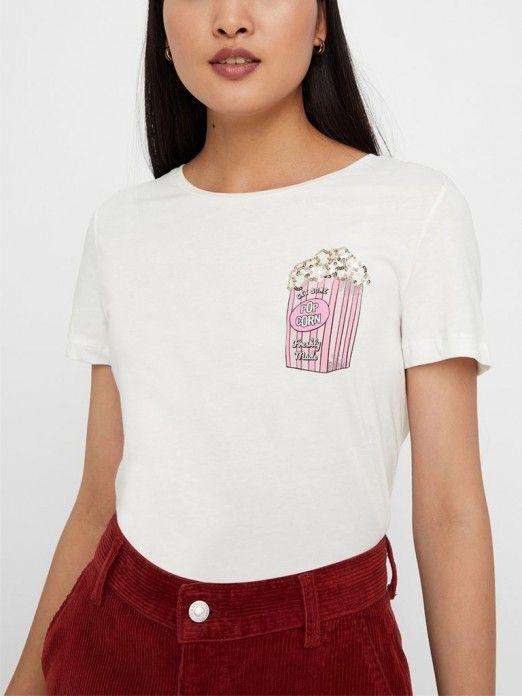 T-Shirt Mulher Pops Vero Moda