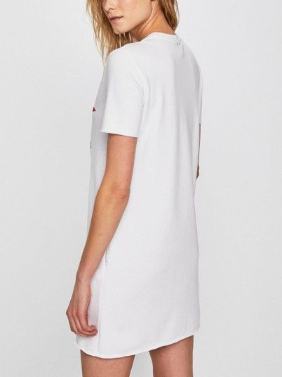 Sweatshirt Women White Silvian Heach PGP19664FE