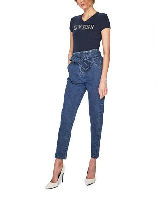 T-SHIRT MULHER CRYSTAL GUESS
